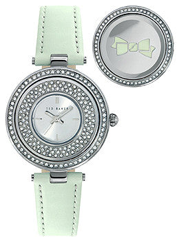 Ted Baker Modern Vintage Three-Hand Mint Leather Strap Womens watch #10023503
