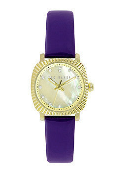 Ted Baker Mini Jewels Purple Leather Strap Womens watch #10024722