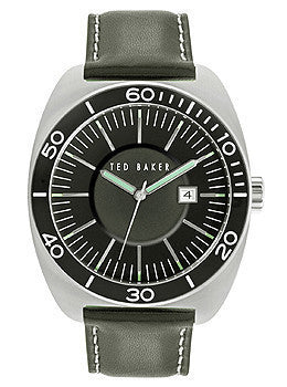 Ted Baker Sport Three-Hand Black Leather Strap Mens watch #10024731