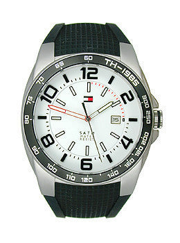 Tommy Hilfiger Classic Three-Hand Silicone - Black Mens watch #1790884