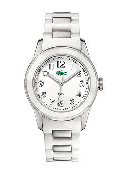 Lacoste Sport Collection Advantage Glossy Plastic White Dial Womens watch #2000461