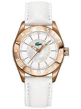 Lacoste Sport Collection Biarritz Rose-gold White Dial Womens watch #2000534