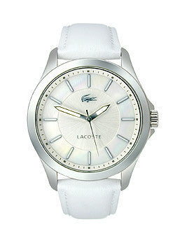 Lacoste Sofia Three-Hand White Leather Strap Womens watch #2000733