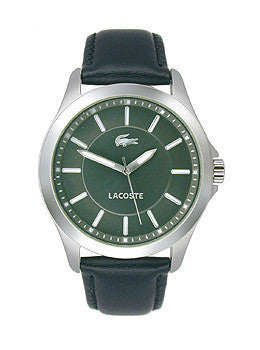 Lacoste Sofia Three-Hand Black Leather Strap Womens watch #2000735