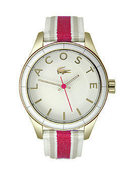 Lacoste Sydney Grosgrain - White/Pink Womens watch #2000770