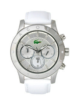 Lacoste Charlotte Chronograph Leather - White Womens watch #2000832