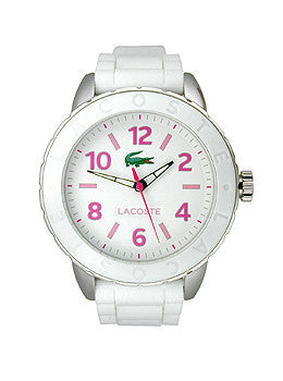 Lacoste Rio Three-Hand White Silicone Womens watch #2000848