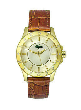 Lacoste Madeira Three-Hand Brown Leather Strap Womens watch #2000861