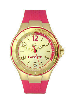 Lacoste Acapulco Three-Hand Pink Silicone Strap Womens watch #2000878