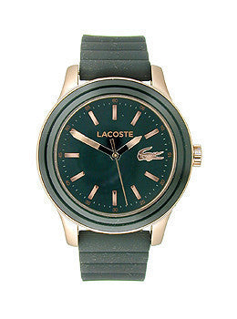 Lacoste Rio New Three-Hand Black Silicone Womens watch #2000905