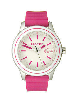 Lacoste Rio New Three-Hand Pink Silicone Womens watch #2000906
