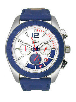 Lacoste Panama Chronograph Blue Leather Strap Mens watch #2010666