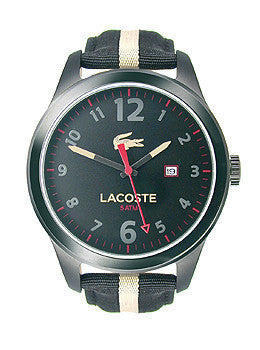Lacoste Auckland Grosgrain - Black/Khaki Mens watch #2010724