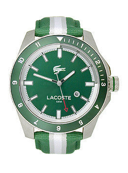 Lacoste Durban Three-Hand Green Nylon Strap Mens watch #2010736
