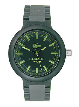 Lacoste Borneo Three-Hand Black Polycarbonate Mens watch #2010768
