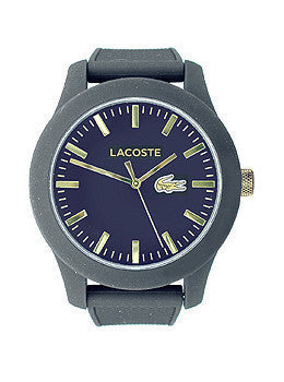 Lacoste Lacoste.12.12 Three-Hand Black Silicone Mens watch #2010818