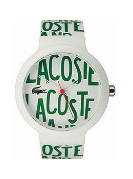 Lacoste Goa Silicone - White/Green Unisex watch #2020055