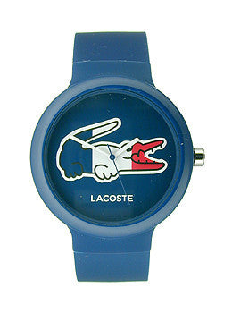 Lacoste Goa France Blue/White Silicone Unisex watch #2020068