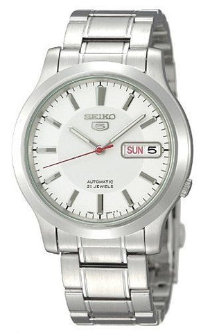 Men's SNK789 Seiko 5 Automatic Stainless Steel Watch with White Dial