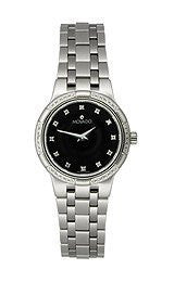 Movado Metio Diamond Bezel Black Diamond Dial Womens Watch #0606001