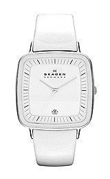 Skagen Designer White Leather Womens watch #SKW2013