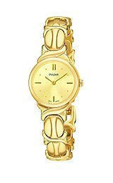 Pulsar by Seiko Two-Hand Gold-Tone Stainless Steel Womens watch #PTA286