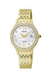 Seiko Core Collection Solar Stainless Steel - Gold-Tone Womens watch #SUT094