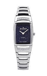 Skagen Black Label Black Glitter Dial Womens Watch #985SSXN