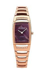 Skagen Black Label Brown Mother-of-Pearl Dial Womens Watch #985SRXD
