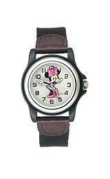 Disney Minnie Mouse Nylon Strap Silver Dial Womens watch #MCK624
