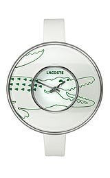 Lacoste Club Collection Figari Leather Strap White Dial Womens watch #2000543