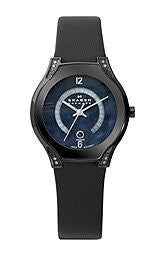 Skagen Black Label Blue Mother-of-Pearl Dial Womens Watch #886SBLB