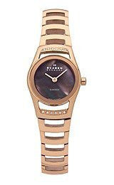 Skagen Black Label Swiss Round Brown Mother-of-pearl Dial Womens watch #982SRXD