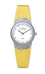 Skagen Steel Collection White Dial Womens Watch #818SSLY