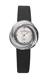 Skagen Black Label Jewelry Inspired Swiss Case Mother-of-pearl Dial Womens watch #885SSLB