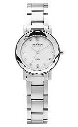 Skagen Steel Collection Mother-of-Pearl Dial Womens Watch #457SSSX