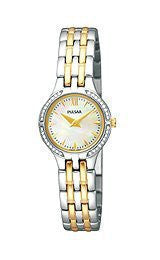 Pulsar Swarovski? crystals Mother-of-pearl Dial Womens watch #PEGF21