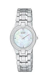 Citizen Eco-Drive Diamonds Stiletto Mother-of-pearl Dial Womens watch #EG3150-51D