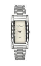 Skagen Steel Crystal Bracelet Light Pink Dial Womens Watch #459SSXZP