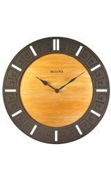 Bulova Tephra Fired Glass Wall clock #C4372
