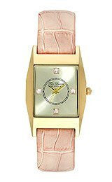 Ted Baker Three-Hand Pink Croco Leather Womens watch #TE2107