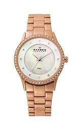 Skagen Steel Collection Mother-of-Pearl Dial Womens Watch #347SRXR