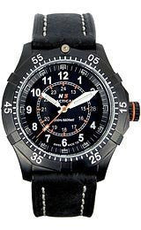 H3 TACTICAL Commander Three-Hand Black Leather Mens watch #H3.302271.11