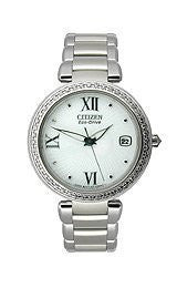 Citizen Eco-Drive Signature Collection White Dial Womens Watch #EO1100-57A