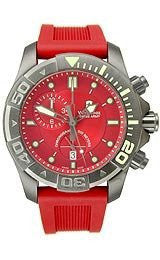 Victorinox Swiss Army Dive Master 500 Chrono Red Dial Menswatch #241422