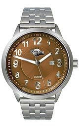 HydrOlix Three-Hand Stainless Steel/Brown Dial Mens watch #XA00205
