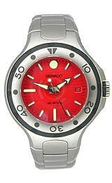 Movado Series 800 Sport Bracelet Red Dial Mens Watch #2600008