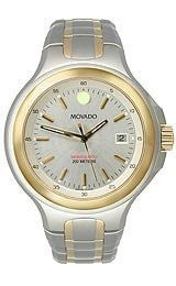 Movado Series 800 Sport Two-tone Silver Dial Mens Watch #2600055