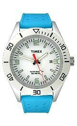 Timex Silicone White Dial Mens watch #T2N555