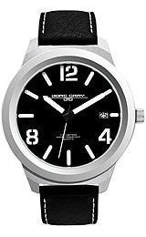 Jorg Gray Leather Black Dial Mens watch #JG1950-11